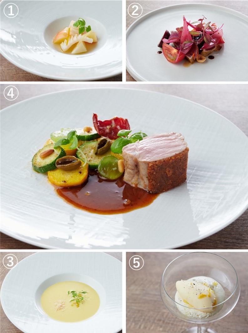 コース料理の画像