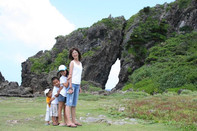 若田部家の久米島での一枚