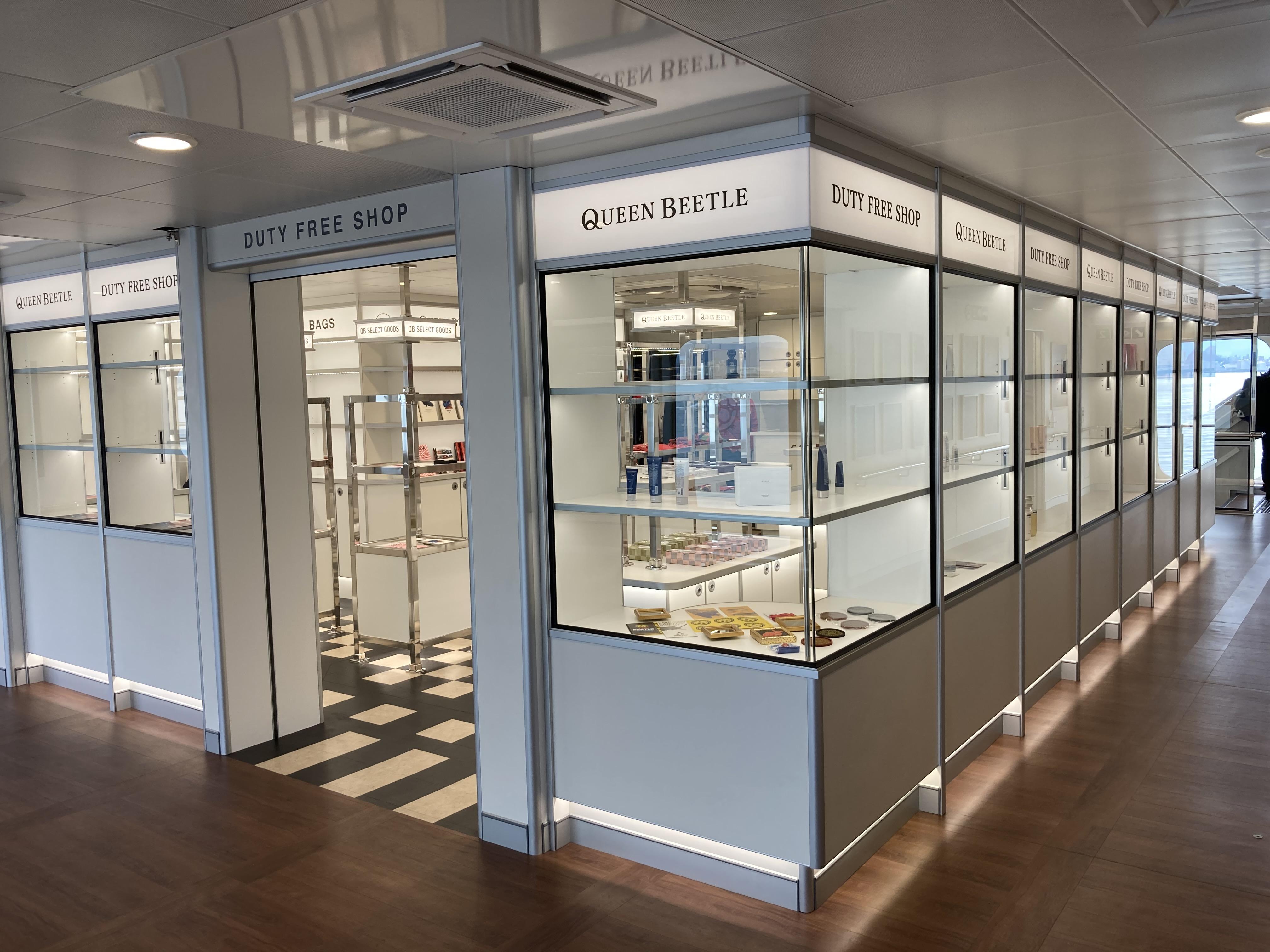 新型「QUEEN BEETLE(クイーンビートル)」の免税店